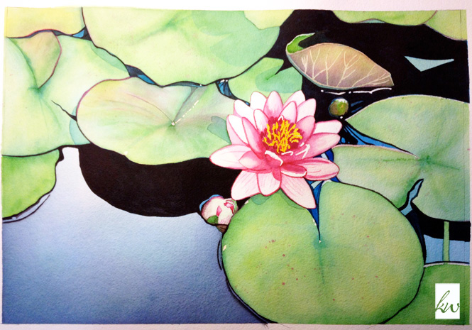 painting 3 water lily katewatson