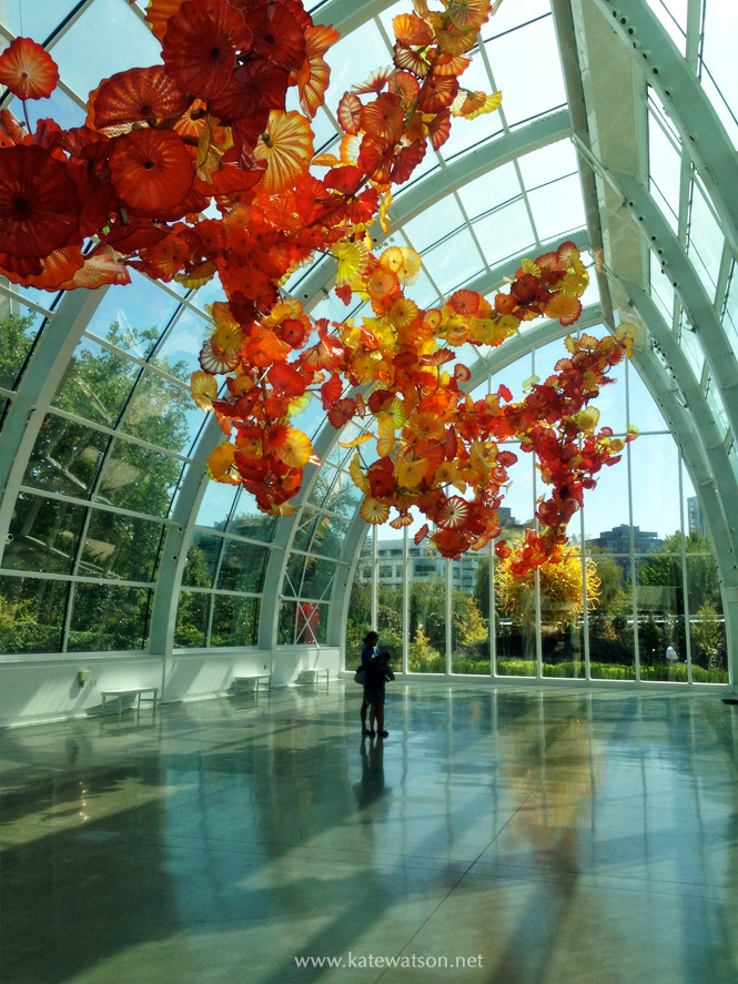 Inside the Glasshouse at Chihuly Garden and Glass, Seattle