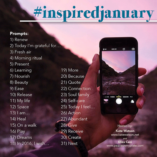 Join us for Inspired January on Instagram