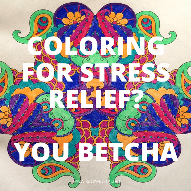 Coloring for Stress Relief? You Betcha